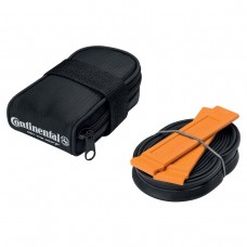 CONTINENTAL ROAD SADDLE BAG WITH RACE 700 X 20-25 PRESTA 60MM VALVE TUBE AND 2 TYRE LEVERS