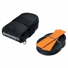 CONTINENTAL ROAD SADDLE BAG WITH RACE 700 X 20-25 PRESTA 48MM VALVE TUBE AND 2 TYRE LEVERS