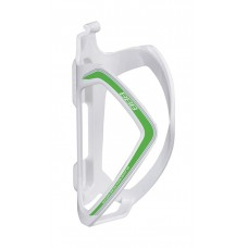 FlexCage Bottle Cage (White, Green Decal)