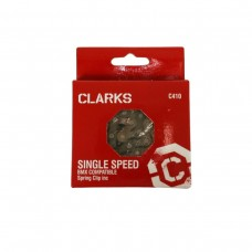 CLARKS BMX/FREESTYLE/FIXIE/TRACK SINGLE SPEED CHAIN 1/2X1/8 X112 LINKS SPRING CLIP INC.