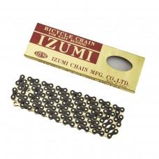 IZUMI STANDARD CHAIN 1/2 X 116 LINKS GOLD/BLACK