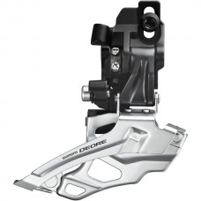 FD-M616 Deore 10-speed double front derailleur, top-pull, direct-fit, black
