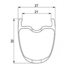 Mavic Ksyrium Pro Carbon UST Disc Rim Rear - LV2737700