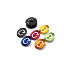 QUARQ COLORED DECALS (BLACK, GREY, RED, BLUE, ORANGE, GREEN & YELLOW)- COMPATIBLE WITH ANY QUARQ POWER METERS PRODUCED AFTER JANUARY 8, 2015 (REVISION ADX)