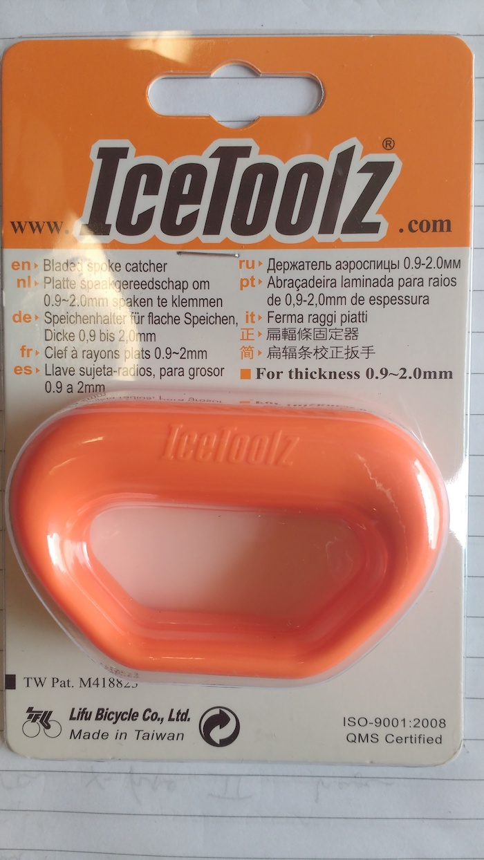 IceToolz 12T4 Bicycle Bladed Spoke Catcher Tool for Wheel Thickness 0.9~2.0mm