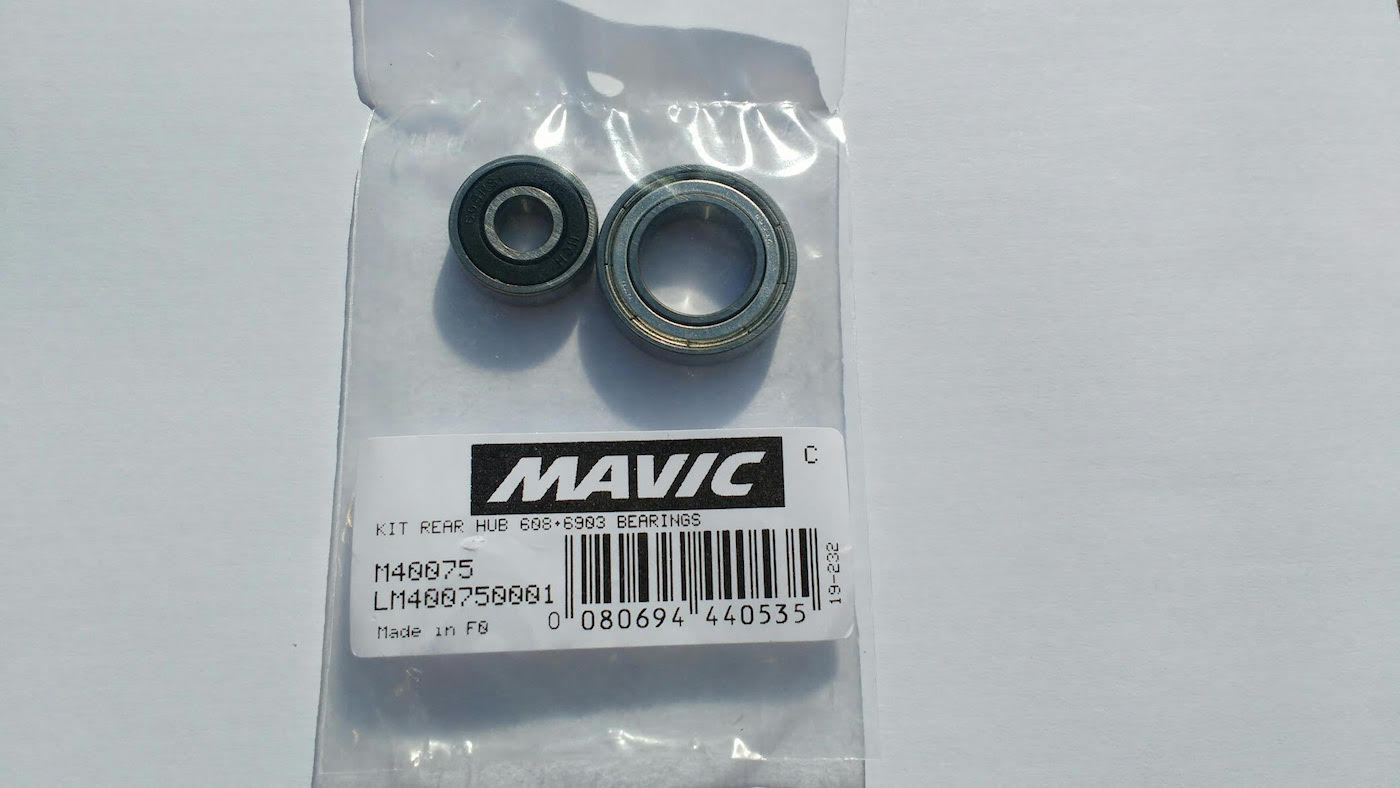M40075 Ceramic Bearing fit Mavic Rear hub:Ksyrium SL,Cosmic Carbone,Crossmax SLR